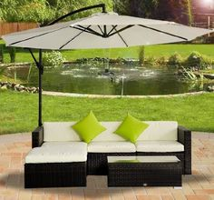 Outsunny Rattan Wicker Conservatory Aluminium Outdoor Garden Patio Furniture Corner Sofa Set without Parasol - Brown: Amazon.co.uk: Garden & Outdoors