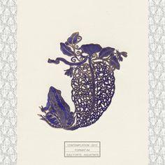Estampe - Contemplation - Michaël Cailloux  Exposition au 107,Rivoli - Boutique du musée des arts décoratifs de Paris