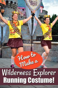 How to Make a Wilderness Explorer Russell Running Costume Run Disney Costumes, Running Costumes, Disney Outfits, Running Humor, Running Training, Running Tips, Running Motivation, Half Marathon Training, Marathon Running
