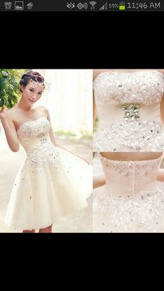 Very cute for a summer hot wedding. .