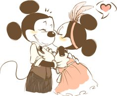 Minnie & Mickey Mouse <3--- this is awesome...