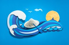 Beautiful illustration for PopChips packaging. - salt and vinegar