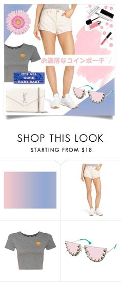 """""""GOIN' CASUAL"""" by taliafzl ❤ liked on Polyvore featuring Levi's, Alice + Olivia and Yves Saint Laurent"""