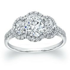 Norman Silverman Three Stone Engagement Ring
