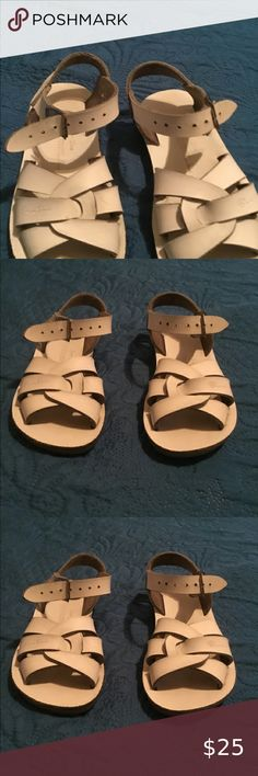 New spring Salt Water sandals sailor style multi colored,NIB