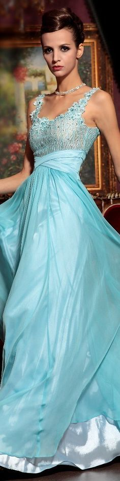 romantic blue gown