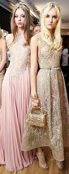 Elie Saab fall 2015 couture backstage