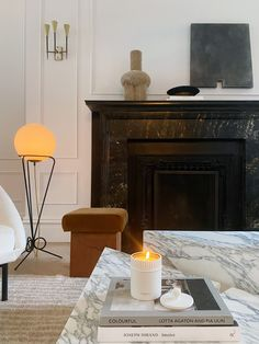 Jo Malone London Home Interior Design, Interior Styling, Living Room Lounge, Living Rooms, Room Paint Colors, Fireplace Mantle, Fireplace Remodel, Jo Malone, Living Furniture