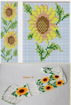 Схемы герданов из общего доступа Bead Crochet Patterns, Peyote Patterns, Beading Patterns, Cross Stitch Patterns, Bead Loom Bracelets, Beaded Bracelet Patterns, Seed Bead Flowers, Beaded Flowers, Kawaii Cross Stitch