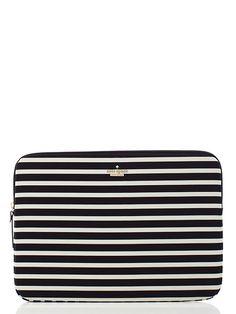 fairmont stripe laptop sleeve - kate spade new york
