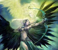 Angel/Fantasy/Art/Women Artwork by Fantasy Girl, Chica Fantasy, Fantasy Warrior, Fantasy Women, Dark Fantasy, Character Inspiration, Character Art, Character Design, Character Concept