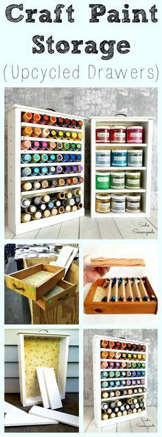 It's amazing how those little bottles of craft paint start to add up in terms of space, isn't it? Have I got a solution for you, though- repurpose and upcycle some salvaged drawers (often found at Habitat ReStore) into wonderful craft paint storage and organization. Your craft room will thank you for this fun, simple DIY project from Sadie Seasongoods / www.sadieseasongoods.com