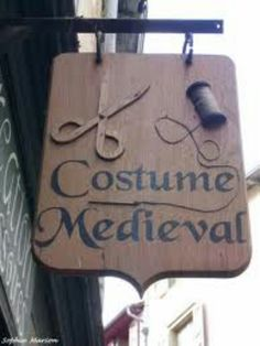 Couture medievale Storefront Signage, Metal Signage, Shop Signage, Outdoor Signage, Pub Signs, Wood Signs, Custom Metal Signs, Sewing Room Decor, Store Signs
