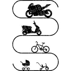 Big Motorcycle Evolution - The Evolution of the Motorcycle in Pictures of the Kinderwa . Biker Tattoos, Motorcycle Tattoos, Evolution, Motorcycle Stickers, Bike Drawing, Scooter Motorcycle, Women Motorcycle, Diy Leather Bracelet, New T Shirt Design