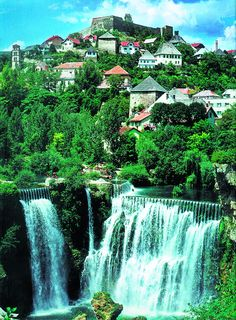 Waterfall in Jajce, Bosnia and Herzegovina (Europe) The town is also famous for its beautiful waterfall where the Pliva River meets the river Vrbas. It was 30 meters high, but during the Bosnian war, the Places Around The World, Oh The Places You'll Go, Places To Travel, Places To Visit, Around The Worlds, Travel Destinations, Montenegro, Beautiful World, Beautiful Places