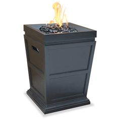Blue Rhino LP Gas Powered Column Firepit | Overstock.com Shopping - Great Deals on Blue Rhino Fireplaces & Chimineas 19.7 inches x 19.7 inches x 31.1 inches $243