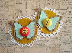 Autumn Afternoon Butterfly Doilies   Designed to coordinate …   Flickr
