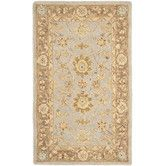 """Found it at Wayfair - Rug SizAnatolia Teal / Brown Rug, $657, 9'6""""x 13'6"""", actually very pale and neutral"""