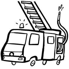 Ausmalbild Transportmittel: Kostenlose Malvorlage: Feuerwehrauto kostenlos ausdrucken