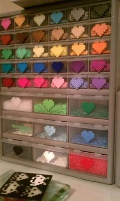 Perler bead storage. I didn't think of the melted version on the ...
