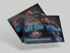 Flyer - The Nantes late show, spectacle humoriste. Creations, Cover, Books, Nantes, Laughing, Livros, Livres, Book, Blankets