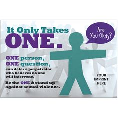 Sexual Assault Awareness Magnet for Bystander Intervention  End sexual assault forever at http://www.fuzeus.com