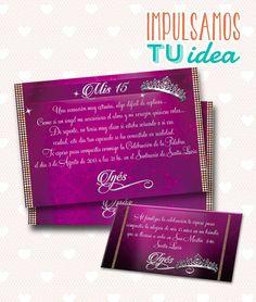 Tarjeta de 15 para imprimir - Invitación y Personal Inés