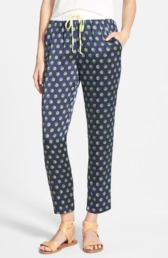 Amour Vert 'Yani' Print Silk Pants available at #Nordstrom