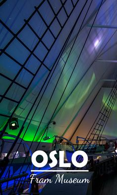 Northern Lights in the Polar ship Museum Fram #Oslo