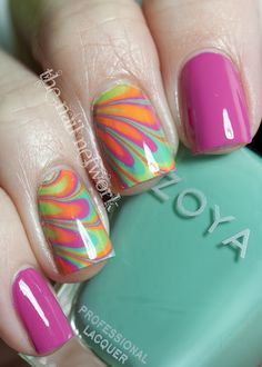 Zoya Beach Collection water marble. So - freaking - beautiful! Must attempt!