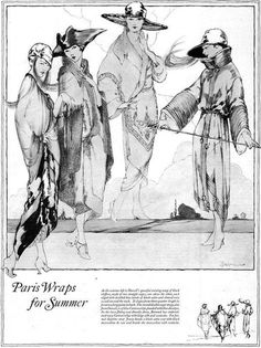 Days Gone By - 1921 Paris Wraps for Summer