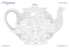 Barbara Gray's Blog. One Day at a Time.: Time for Tea and a FREE COLOURING DOWNLOAD