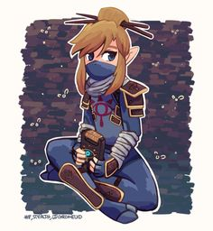 Legend of Zelda Breath of the Wild - Link Stealth Outfit.