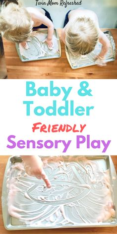 Baby and Toddler-Friendly Sensory Activity- Fun, Engaging, and Edible Activity An edible sensory play activity for toddlers and babies. This baby and toddler activity is quick to set up and will keep your toddler entertained! Edible Sensory Play, Sensory Games, Baby Sensory Play, Sensory Activities Toddlers, Baby Play, Infant Activities, At Home Toddler Activities, Easy Toddler Crafts 2 Year Olds, Sensory Activities For Toddlers