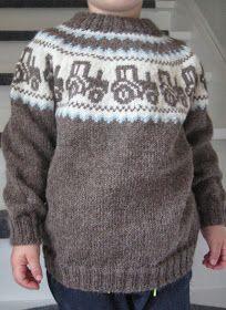 Billedresultat for mariusgenser med traktor oppskrift - My WordPress Website Fair Isle Knitting Patterns, Chunky Knitting Patterns, Lace Knitting, Knit Crochet, Knit Baby Sweaters, Knitted Baby Clothes, Crochet Toddler, Sweater Set, Knitting For Kids