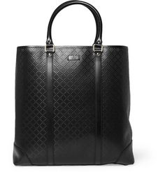 Gucci Textured-Leather Tote Bag   MR PORTER
