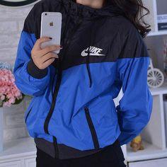 """Fashion """"NIKE"""" Hooded Zipper Cardigan Sweatshirt Jacket Coat Windbreaker Sportswear from Love Sporty Outfits, Nike Outfits, Fashion Outfits, Windbreaker Outfit, Sweatshirt Outfit, Looks Adidas, Coats For Women, Jackets For Women, Fashion Clothes"""
