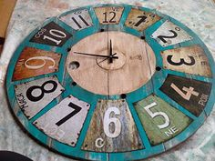 Diy Clock, Wood Clocks, Wooden Cabinets, Decoupage, Diy Crafts, Handmade, Painting, Design, Home Decor