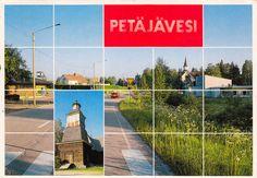 Kuva: PETÄJÄVESI,  PR-kortti 132003-1   Foto: Raimo Poutanen Pr, Vintage Postcards, Finland, Sidewalk, Album, Walkway, Pavement, Card Book