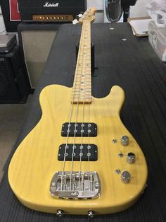Here's an ASAT Bass in Butterscotch Blonde over swamp ash, maple neck with Vintage Tint Gloss finish. CLF078982 is headed to G&L Premier Dealer Musician's Friend. G&L Musical Instrument's