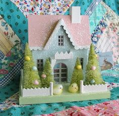 Glitter House - actually Easter Cottage, but I'm sure there are Christmas ones! Just adorable! Thru eBay $52.99