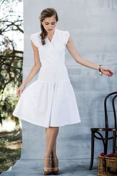 Sloane Fit and Flare Dress from the Aussie Afternoon Collection by Shabby Apple