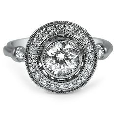 Floating Round Bezel Halo With Milgrain From Brilliant Earth Gorgeous Engagement Ring
