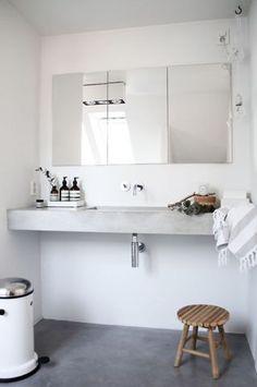 Nice counter  http://domino.com/small-bathroom-decor-ideas/story-image/56ccf6912df7fb180f8b767c