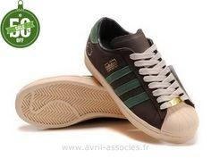 Boutique Adidas Superstar Chaussures 35e Anniversaire Hommes Vert Brun (Superstar Adidas Femme)
