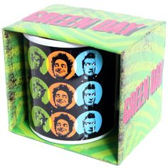 Official Green Day boxed ceramic mug featuring the Uno Dos Tres design Bravado Officially Licnesd Merchandise See all Green Day Band Merch or view
