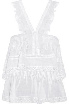 Isabel Marant Oletta broderie anglaise ramie top | NET-A-PORTER