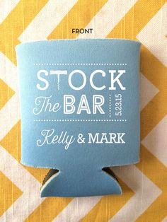 Stock the Bar Party can coolers, couples shower party favors, stocked and loaded beer coolies, custo Party Favors, Wedding Favors, Wedding Table, Wedding Venues, Wedding Invitations, Wedding Sparklers, Wedding Officiant, Wedding Fun, Wedding Catering