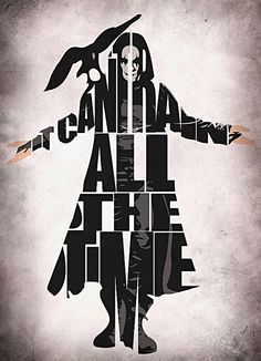 The Crow Inspired Brandon Lee Typographic Print and by GeekMyWalL, $25.00