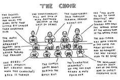Typical choir members!